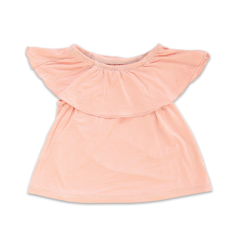 Bamboo Off-the-Shoulder Top (Powder Pink)