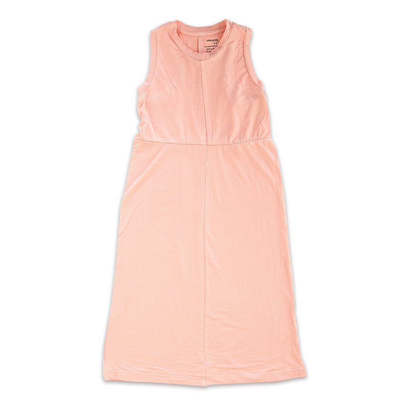 Bamboo Maxi Dress (Powder Pink)