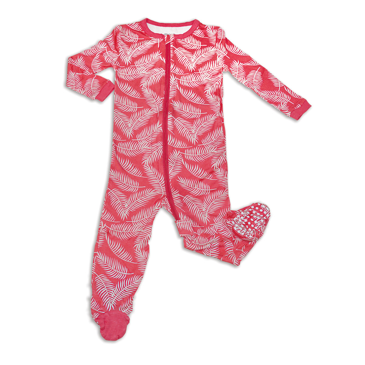 Bamboo Zip up Footed Sleeper (Breezy Leaves Print)