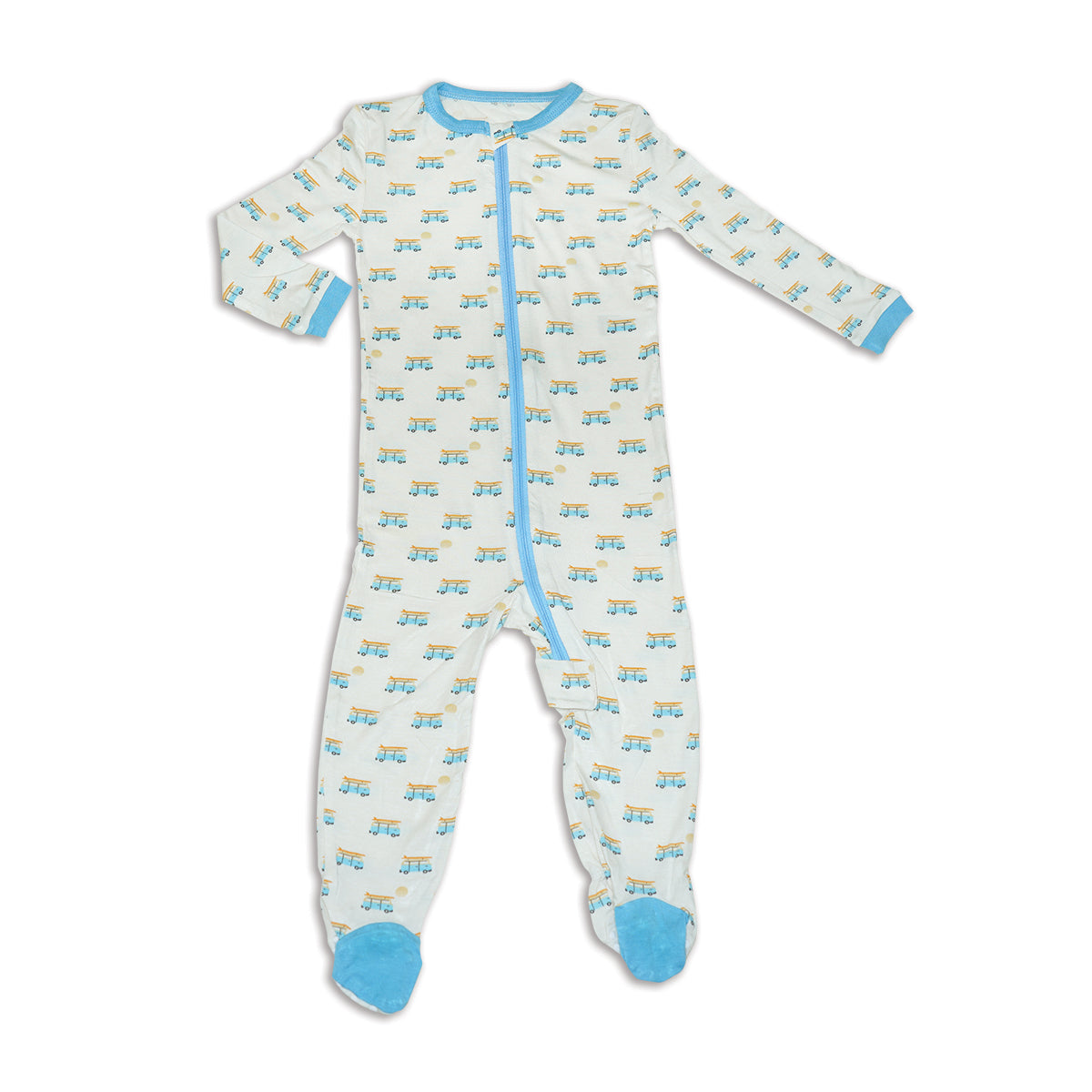 Bamboo Zip up Footed Sleeper (Sunset Cruising Print)