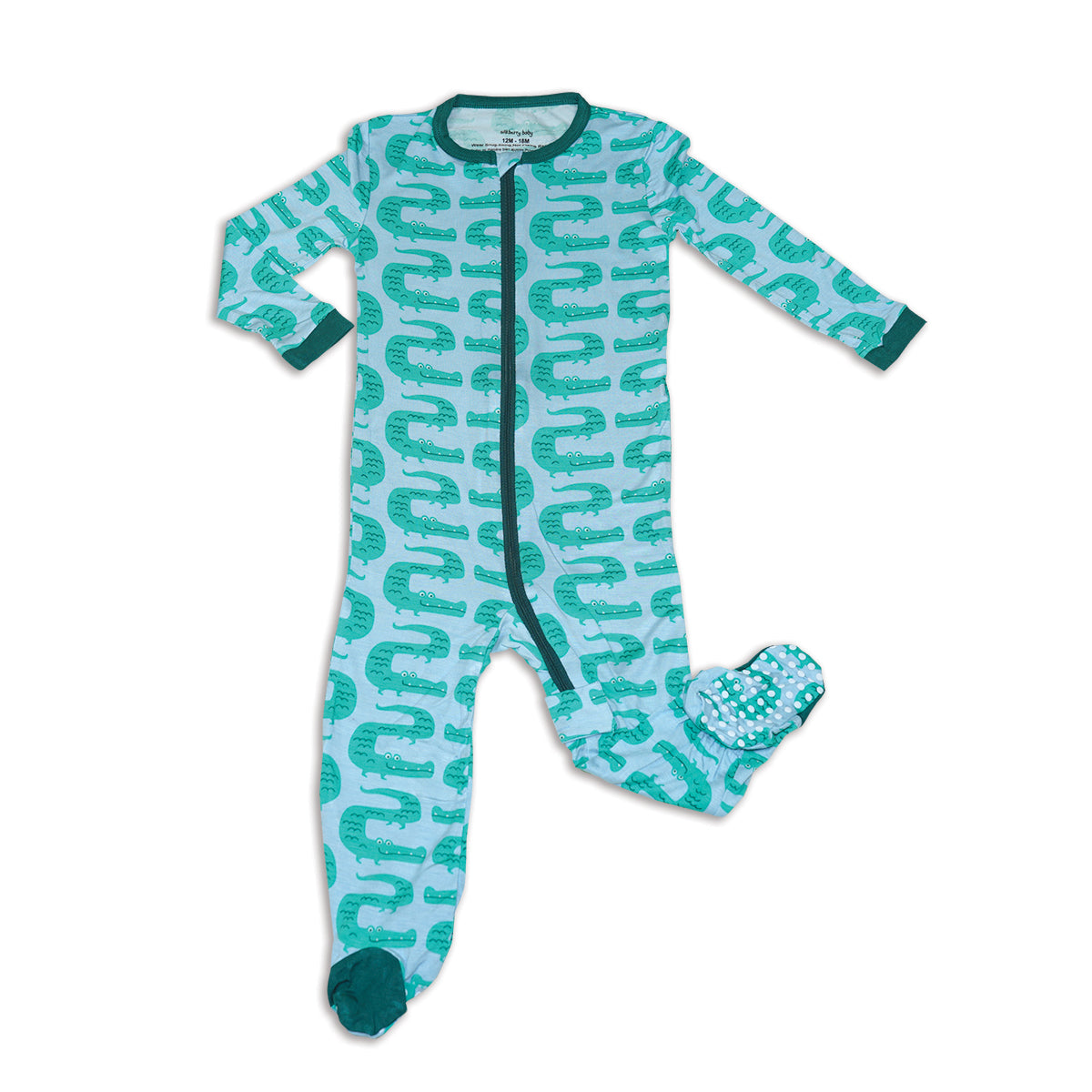 Bamboo Zip up Footed Sleeper (ZigZag Croc Print)