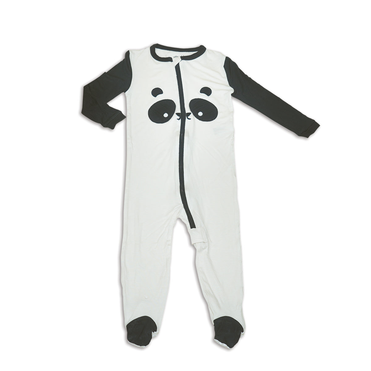Bamboo Zip up Footed Sleeper (Feather/Panda)