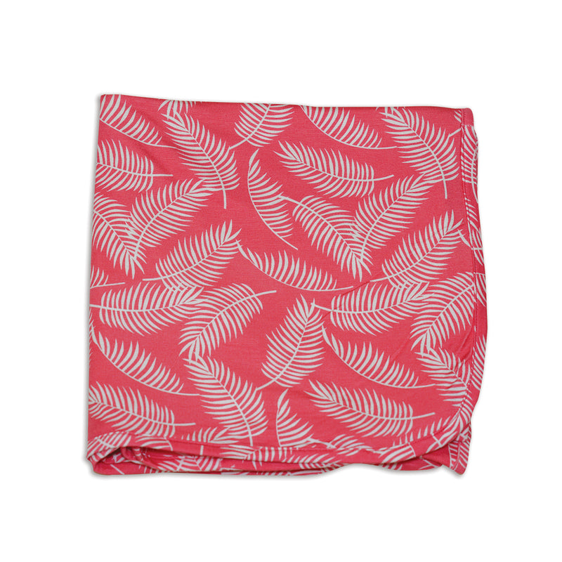 Bamboo Swaddle Blanket (Breezy Leaves Print)