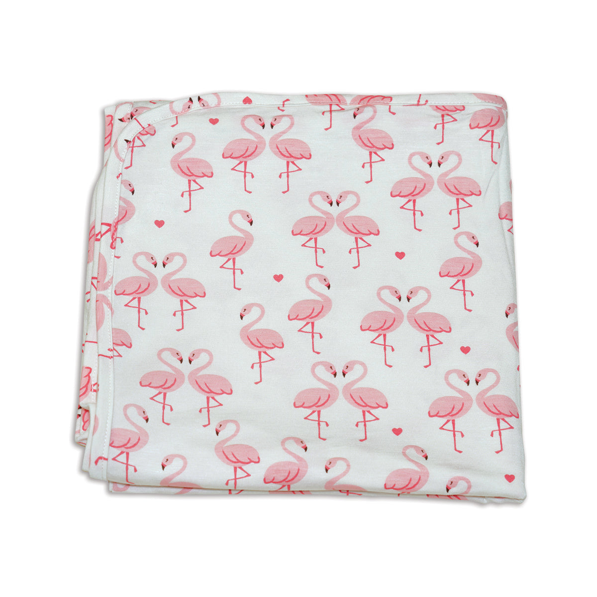 Bamboo Swaddle Blanket (Flamingo Love Print)