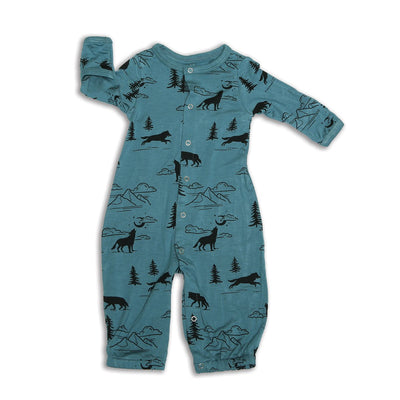 bamboo converter gown change to romper with legs
