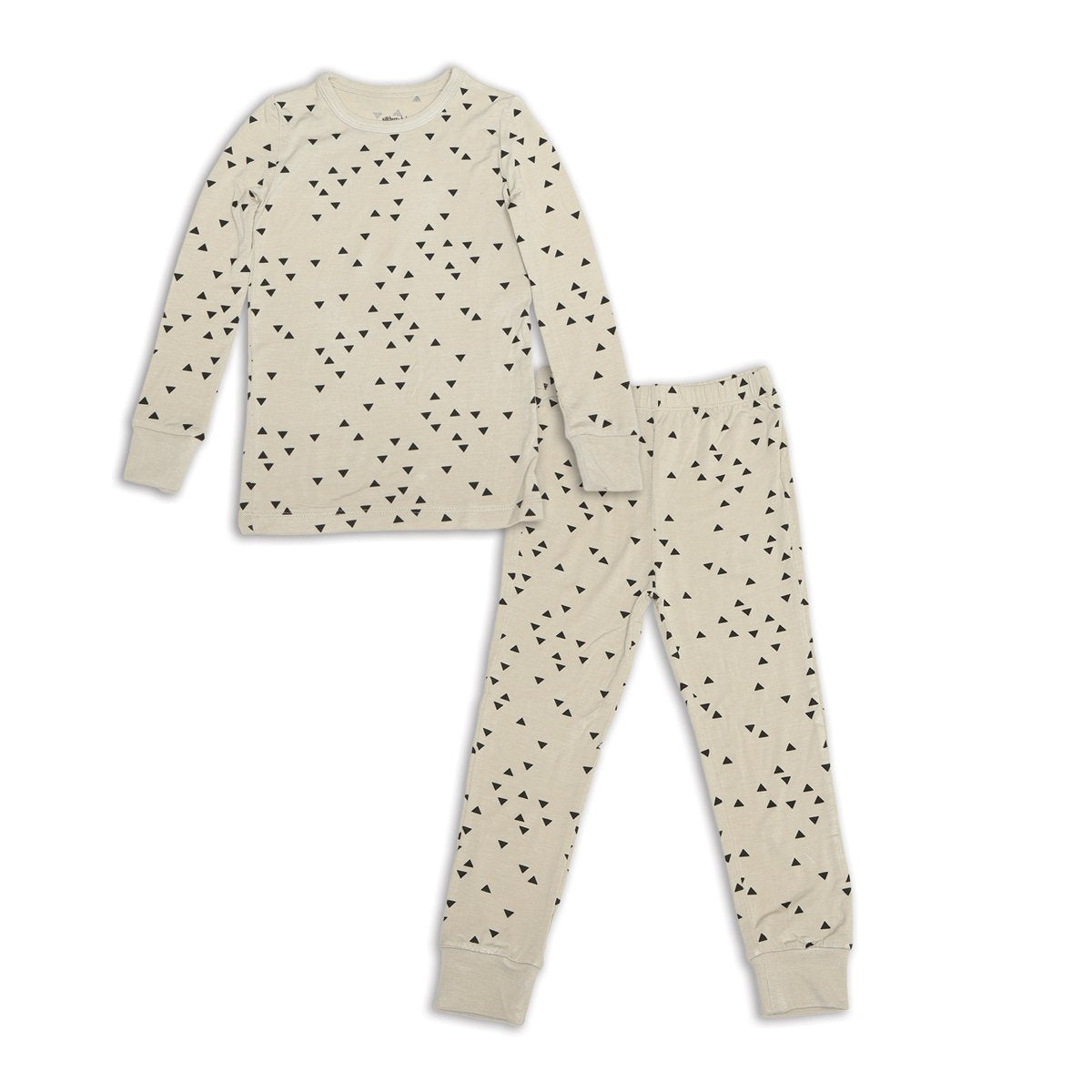 bamboo long sleeve pajama set apex print