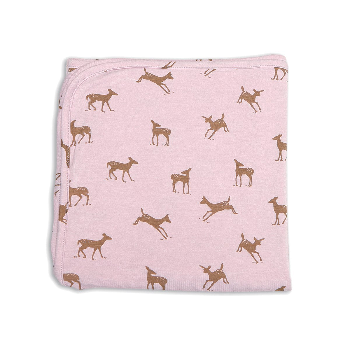 bamboo swaddle blanket autumn deer print