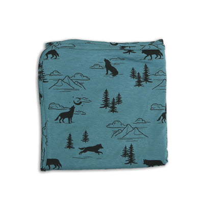bamboo swaddle blanket call of the wild print