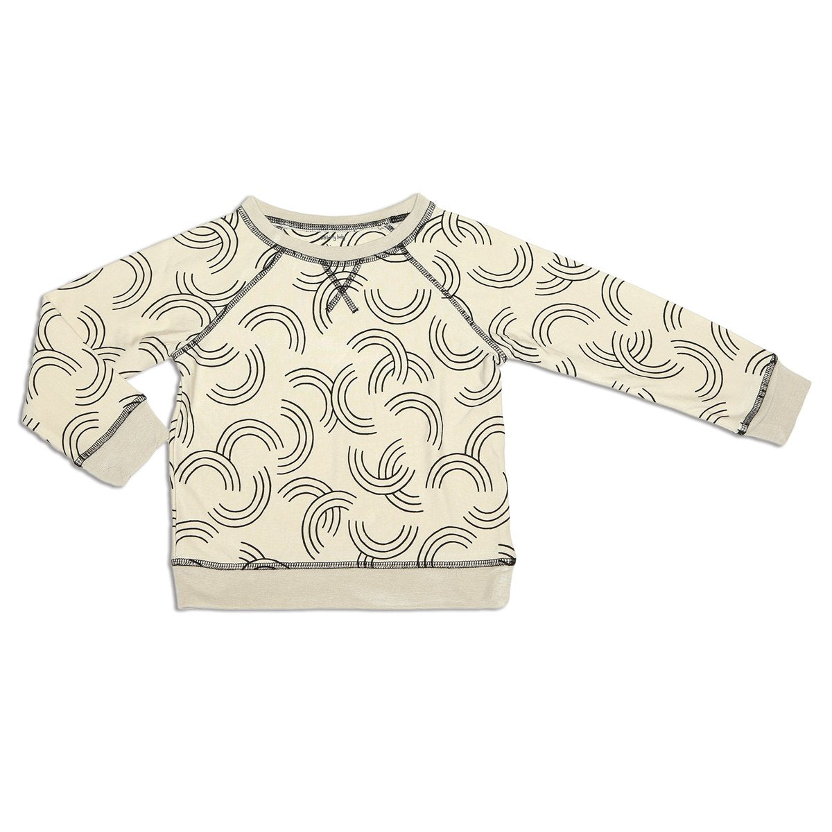bamboo fleece sweatshirt rainbow toss print