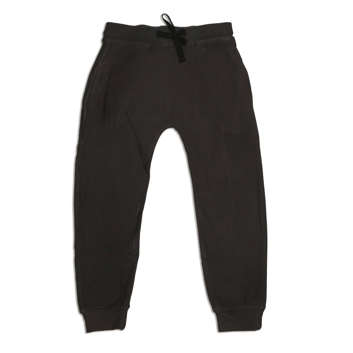 soft bamboo fleece harem pants black color