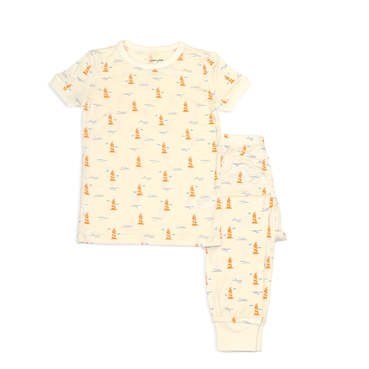 Bamboo Short Sleeve Pajama Set (Lighthouse Print)
