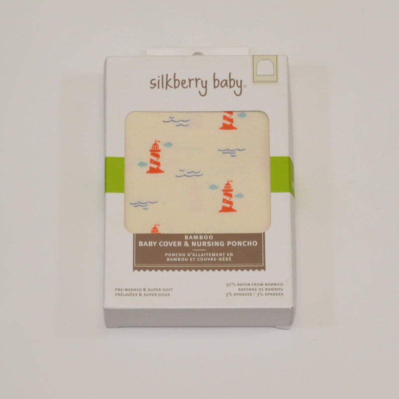 bamboo baby cover&nursing poncho lighthouse print