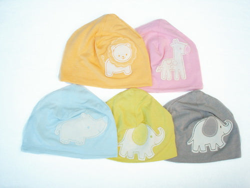 Bamboo Beanie (Color: Orchid zebra)