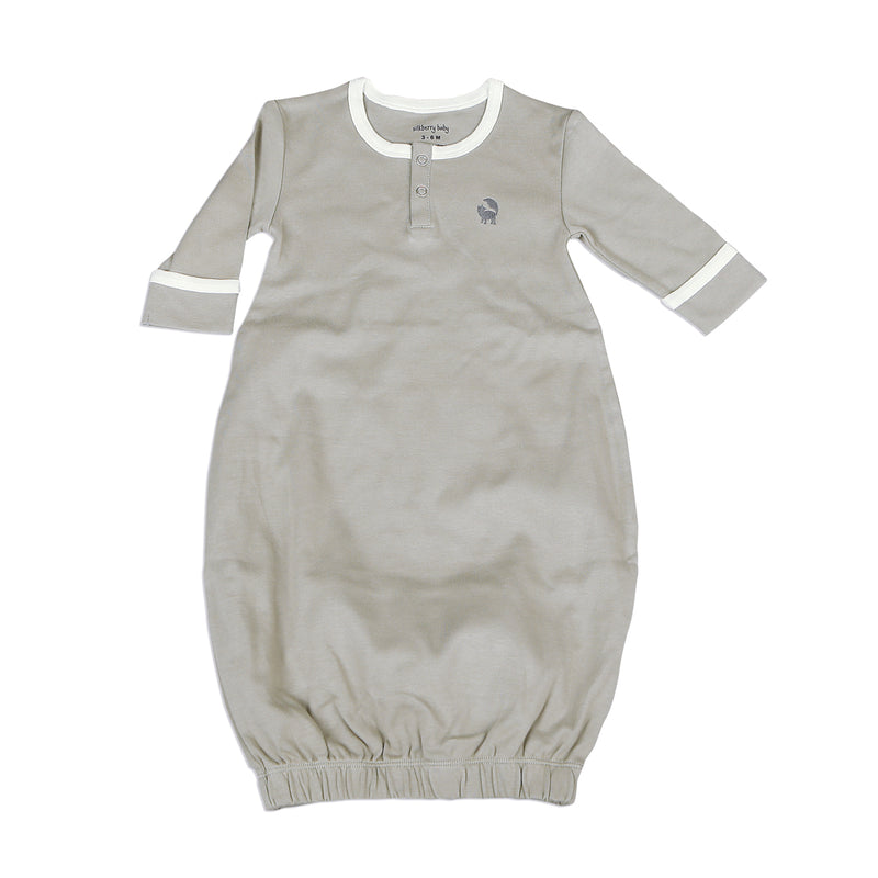 Organic Cotton Gown - Wild Dove/Snow
