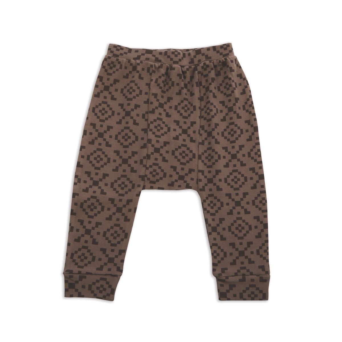 Organic Cotton Harem Pants (Hugs & Kisses Print)