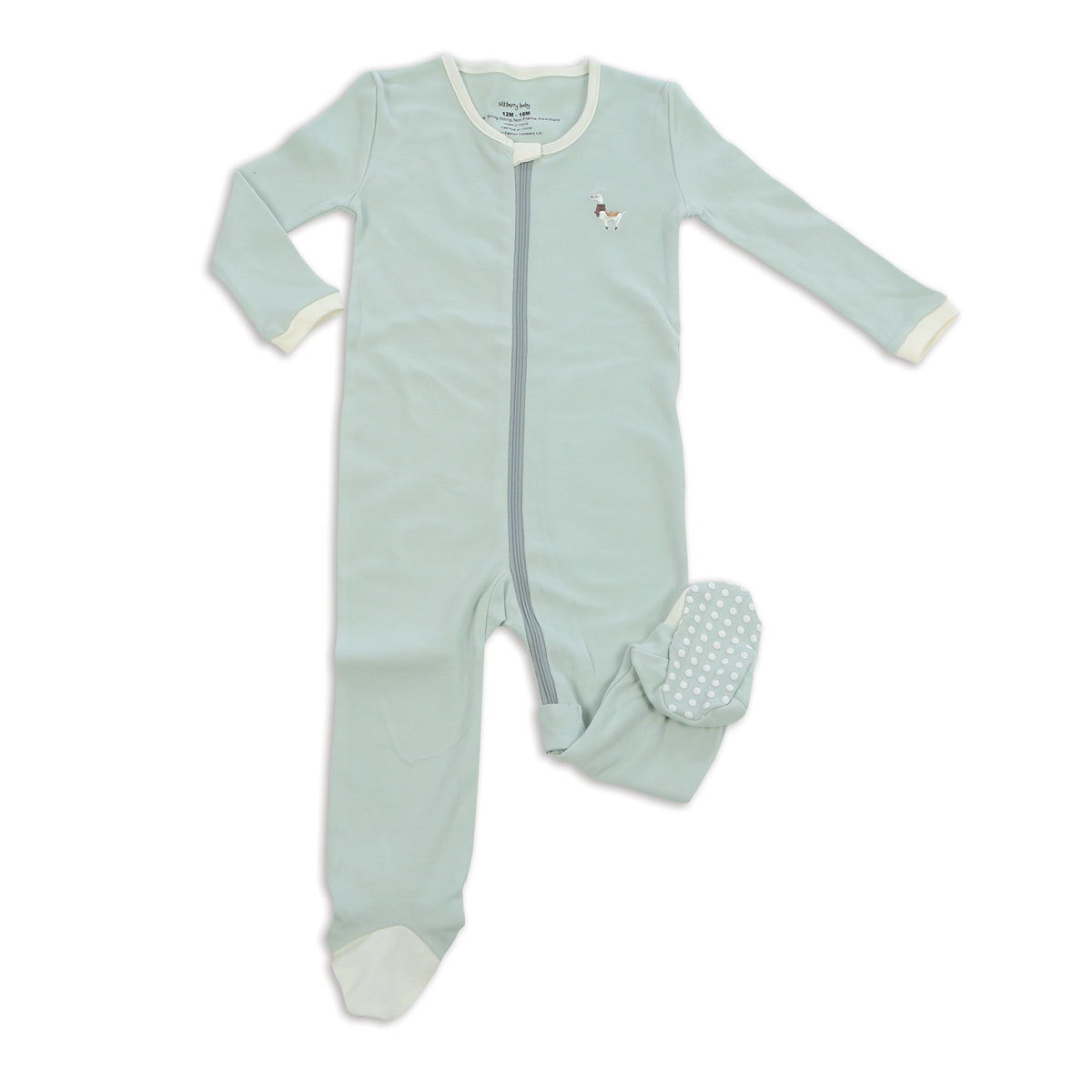 Organic Cotton Footies with Easy Dressing Zipper(Stardust)