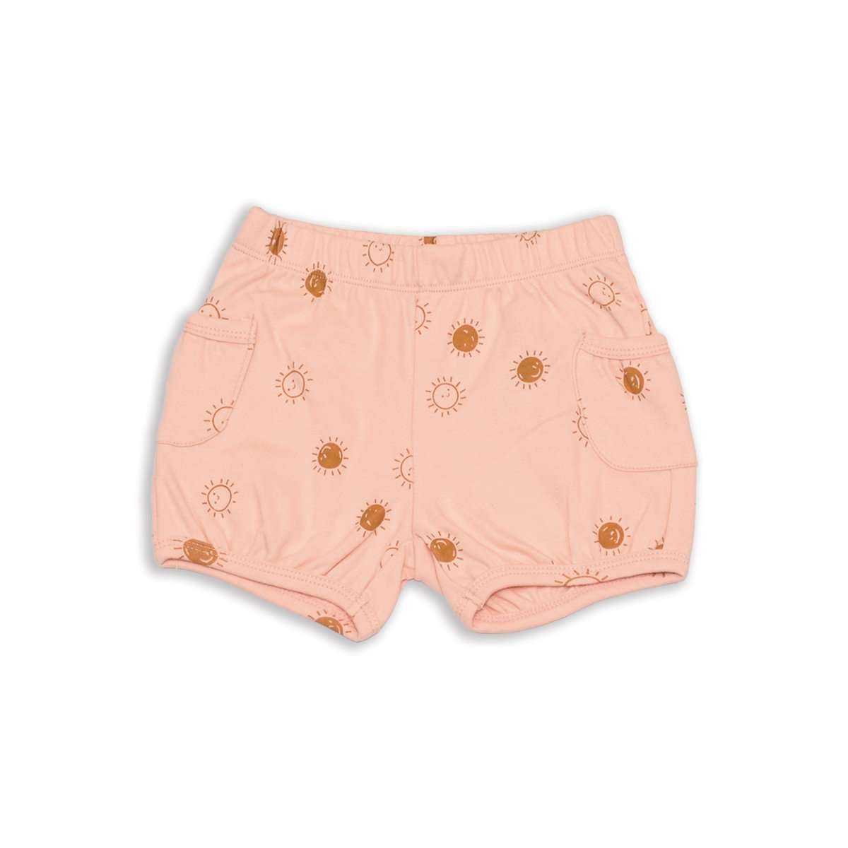organic cotton pocket shorts hello sunshine printfor girl