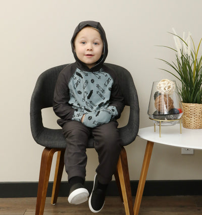 SOFT bamboo fleece boys hoodie & sweat pants