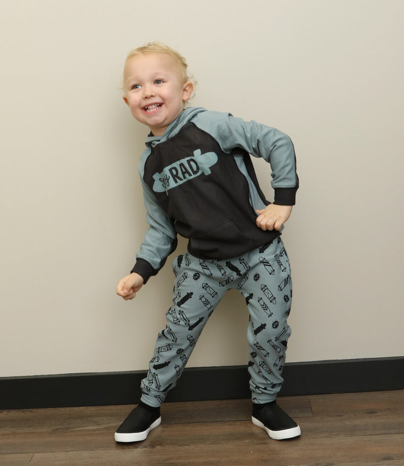 super soft bamboo fleece harem pants for boys