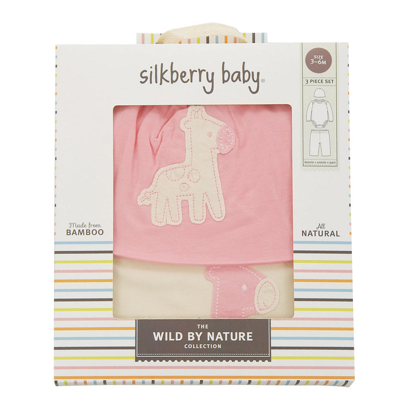 Bamboo Baby Gift Set (Cotton Candy/Giraffe)