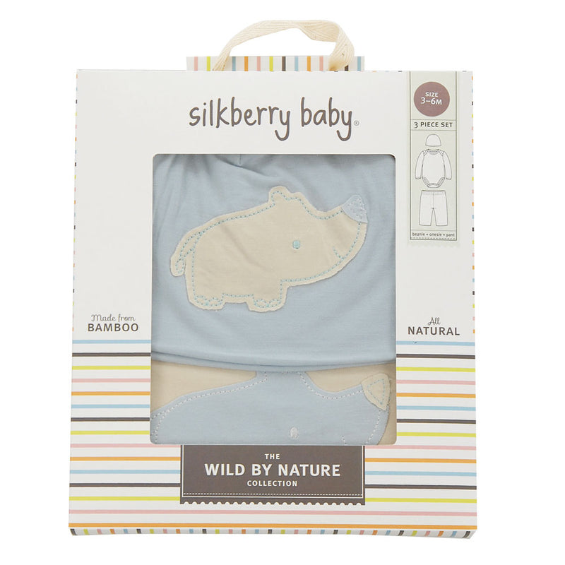Bamboo Baby Gift Set (Sea Breeze/Rhino)