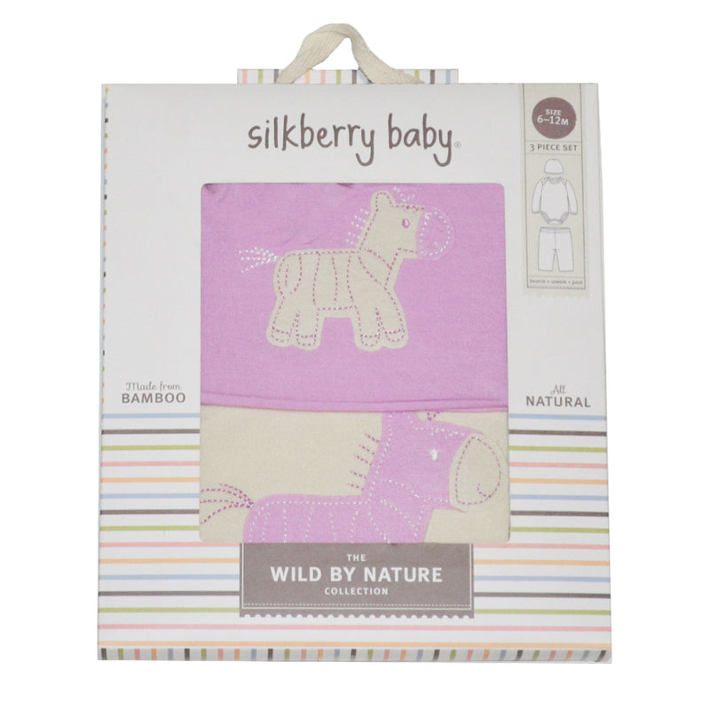 Bamboo Baby Gift Set (Orchid/Zebra)