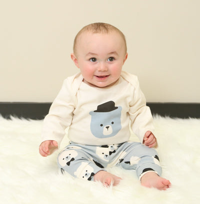 organic cotton bodysuit & pant set (2pc outfit)