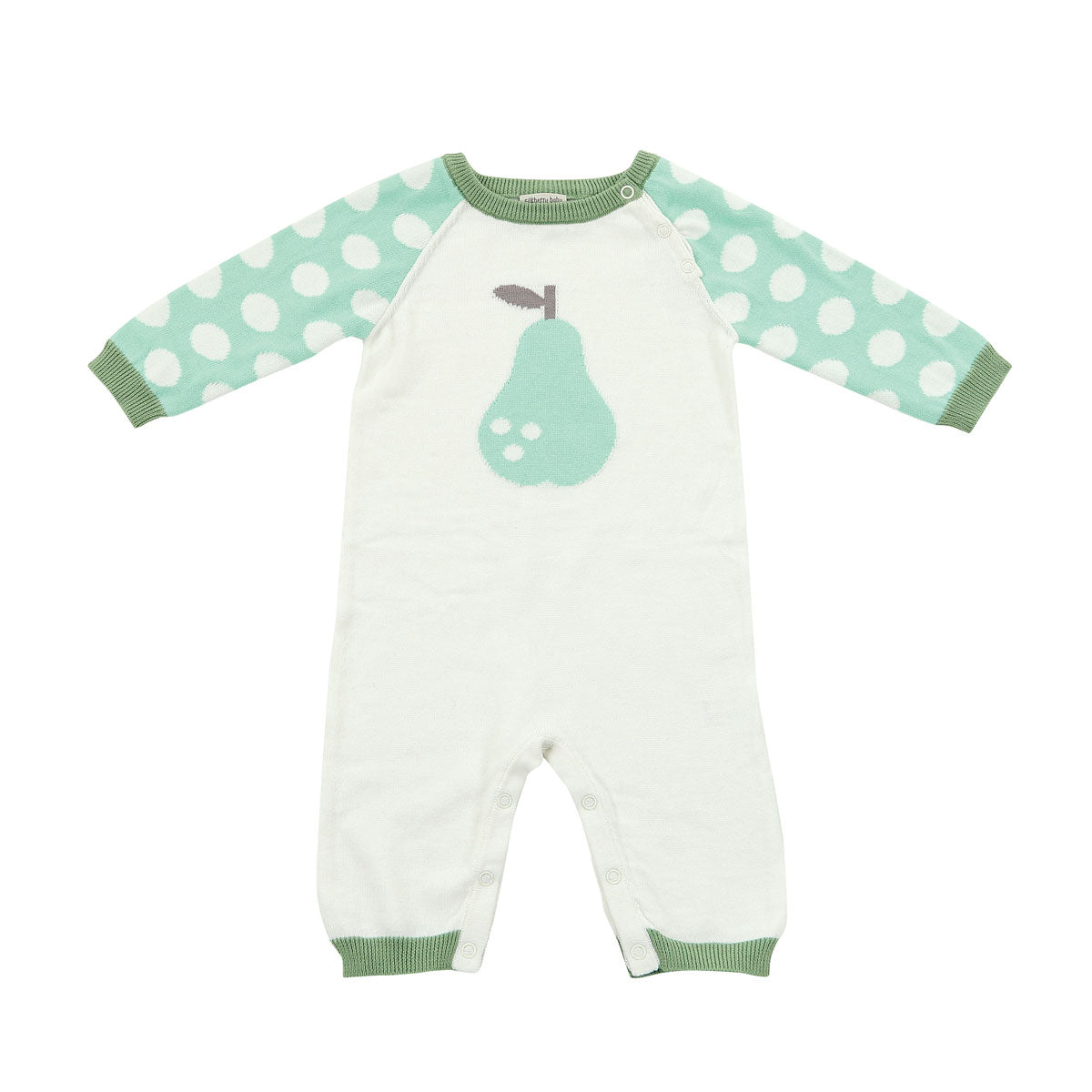 Sweater Romper (Seafoam Dot Pear)
