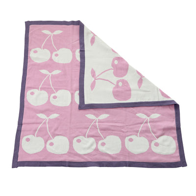 Sweater Reversible Blanket (Orchid Cherry)
