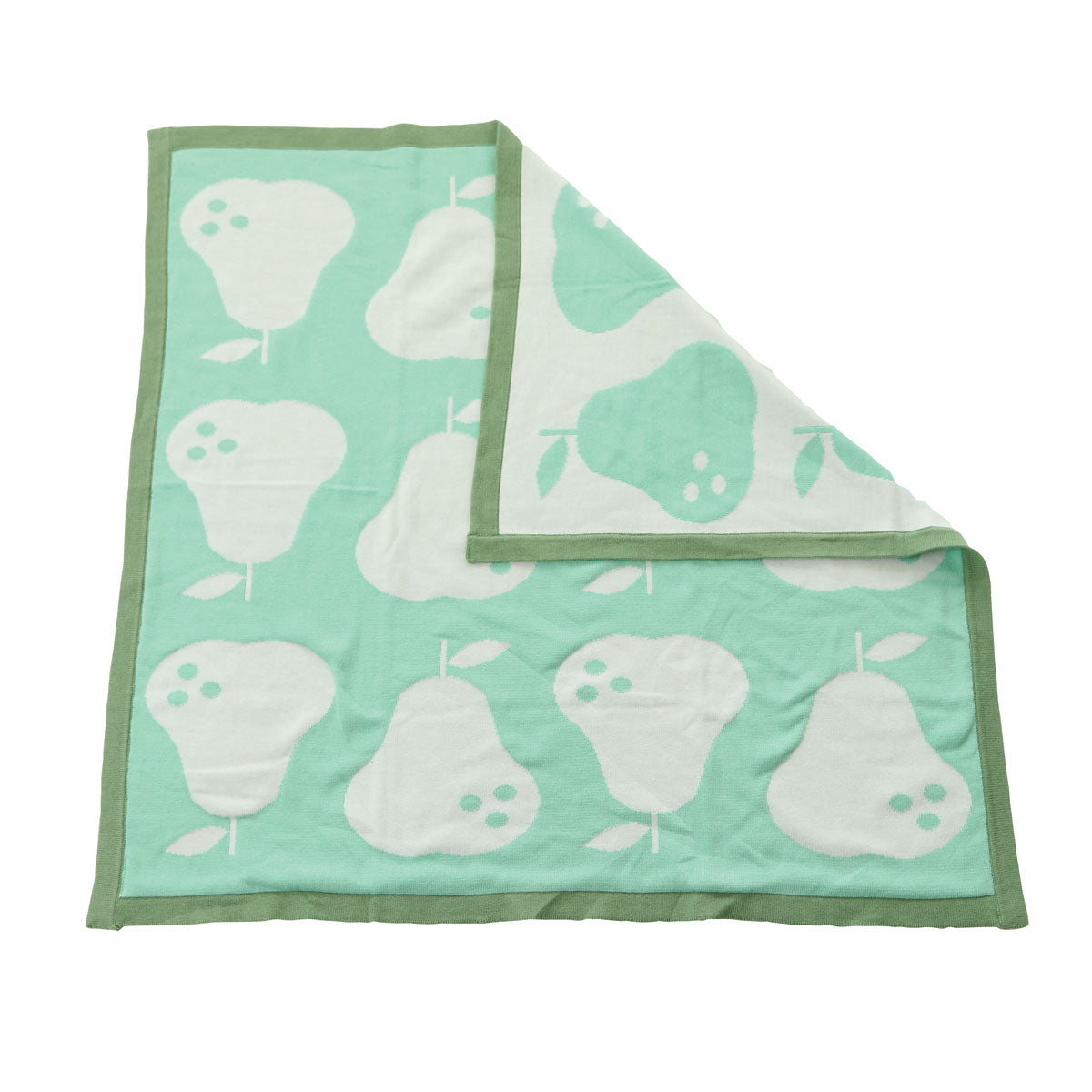 Sweater Reversible Blanket (Seafoam Pear)