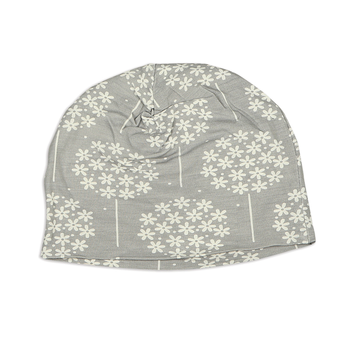 Bamboo Beanie (double layered) - Floral Dandelion Print