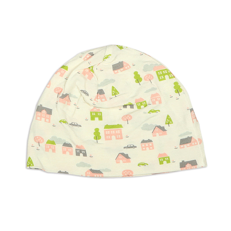 Bamboo Beanie (double layered) - Little Village Print
