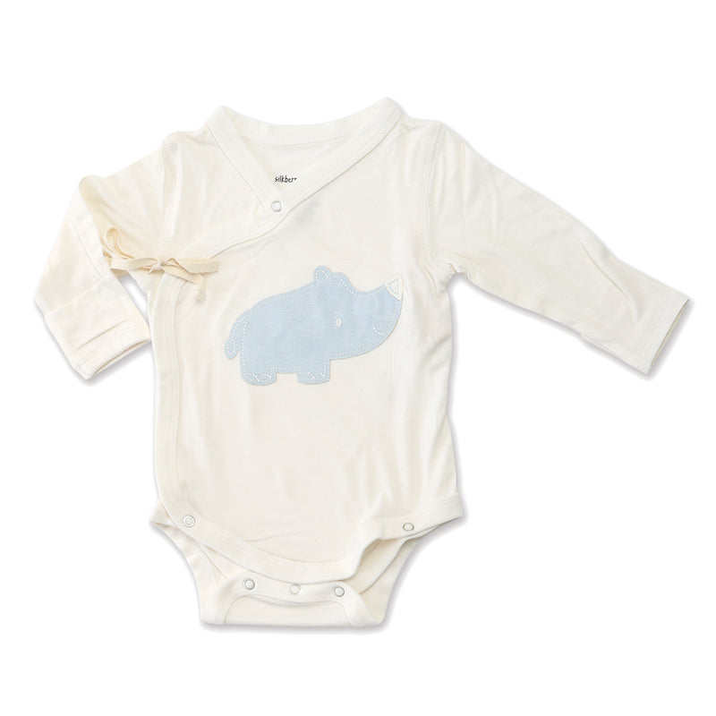 Bamboo Long Sleeve Onesie (Sea Breeze Rhino)