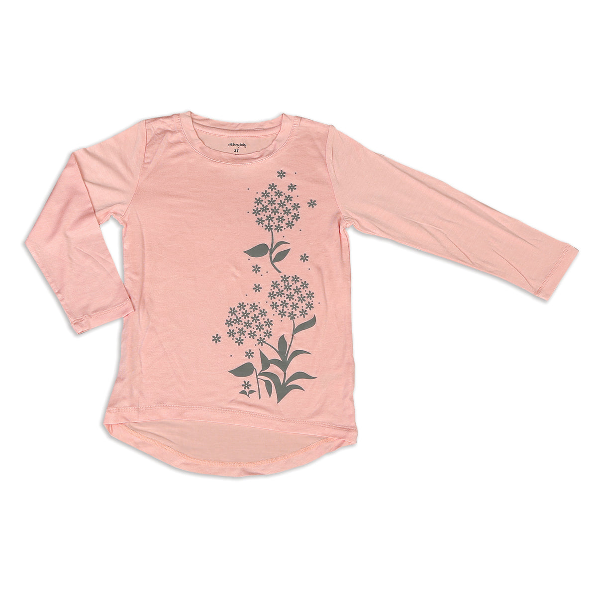 Bamboo Long Sleeve Tee (Powder Pink)