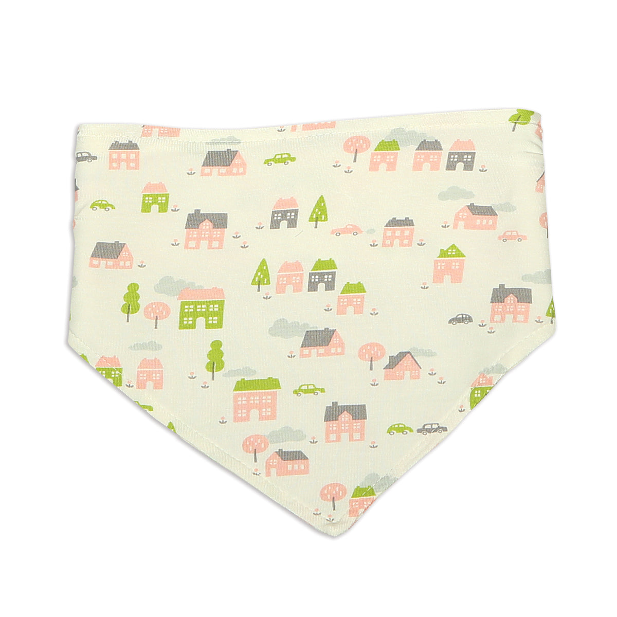 Bamboo Bandana Bib Reversible (Little Village Print)