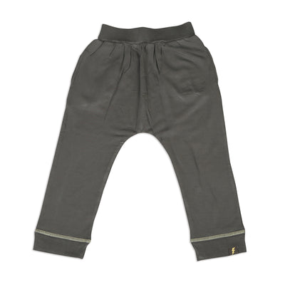 Bamboo Fleece Harem Pants (Shady Gray lightning coverstitch)