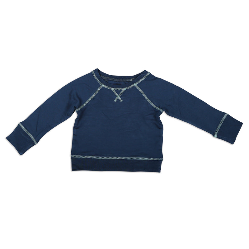 Bamboo Fleece Sweatshirt - Midnight (Lustre Coverstitch)