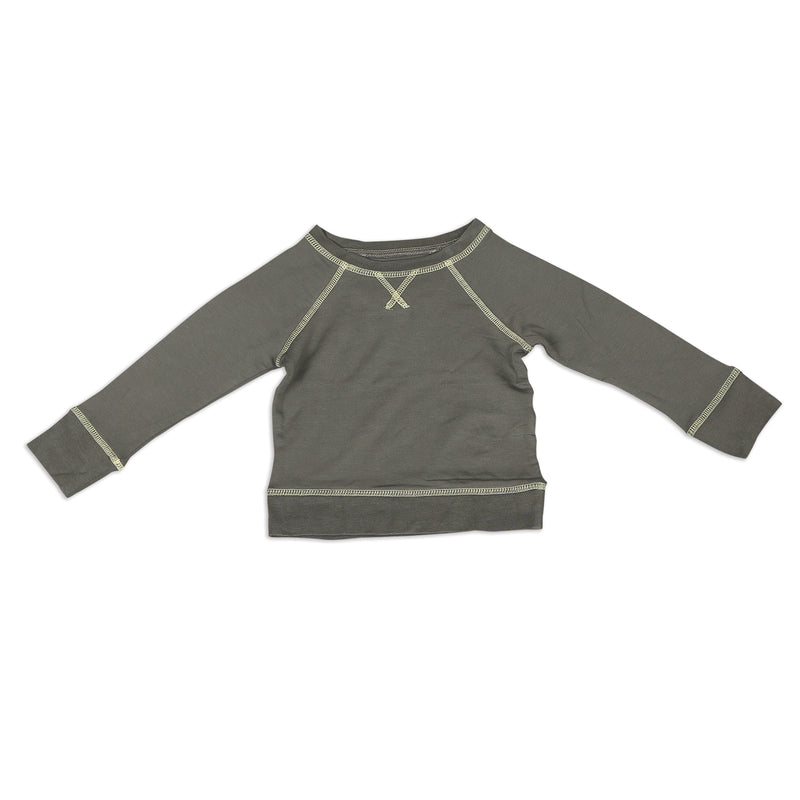 Bamboo Fleece Sweatshirt - Shady Gray (Lightning Coverstitch)