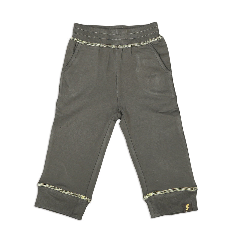 Bamboo Fleece Sweat Pants - Shady Gray (Lightning Coverstitch)