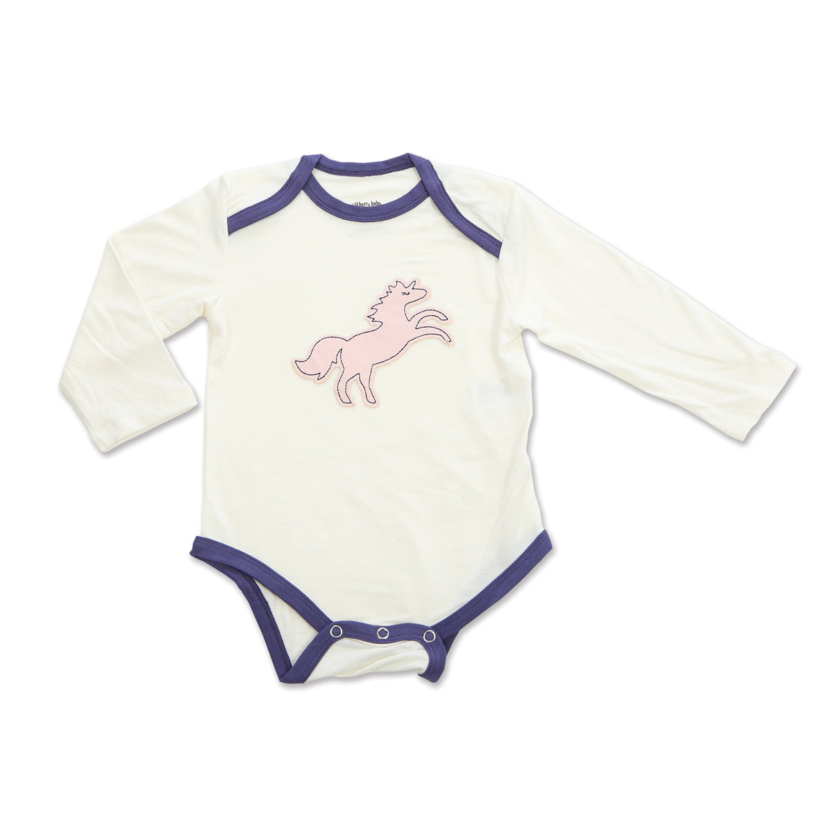 Bamboo Long Sleeve Onesie (Feather/Unicorn)