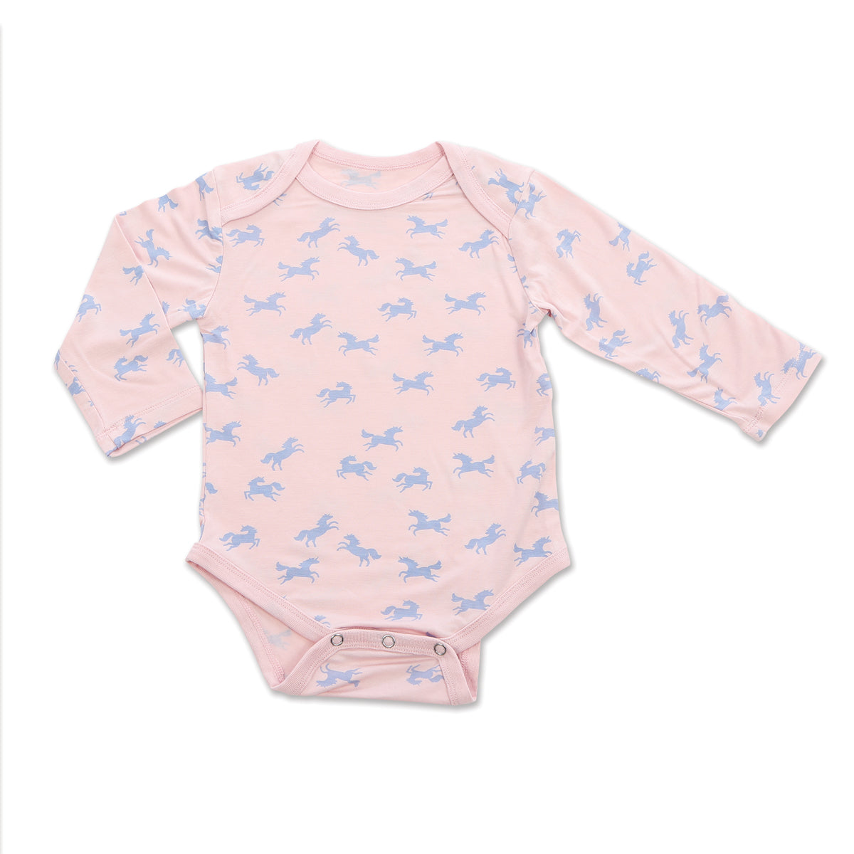Bamboo Long Sleeve Onesie (Unicorn Print)