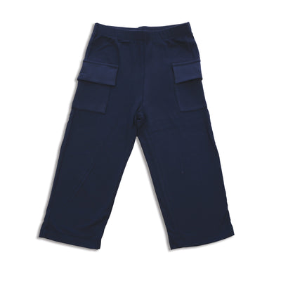 Bamboo Cargo Pocket Pants (Indigo)