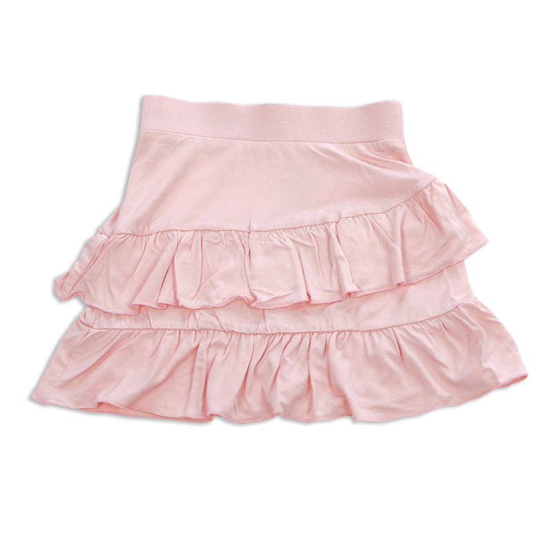 Bamboo Ruffle Skirt (Pink Cloud)