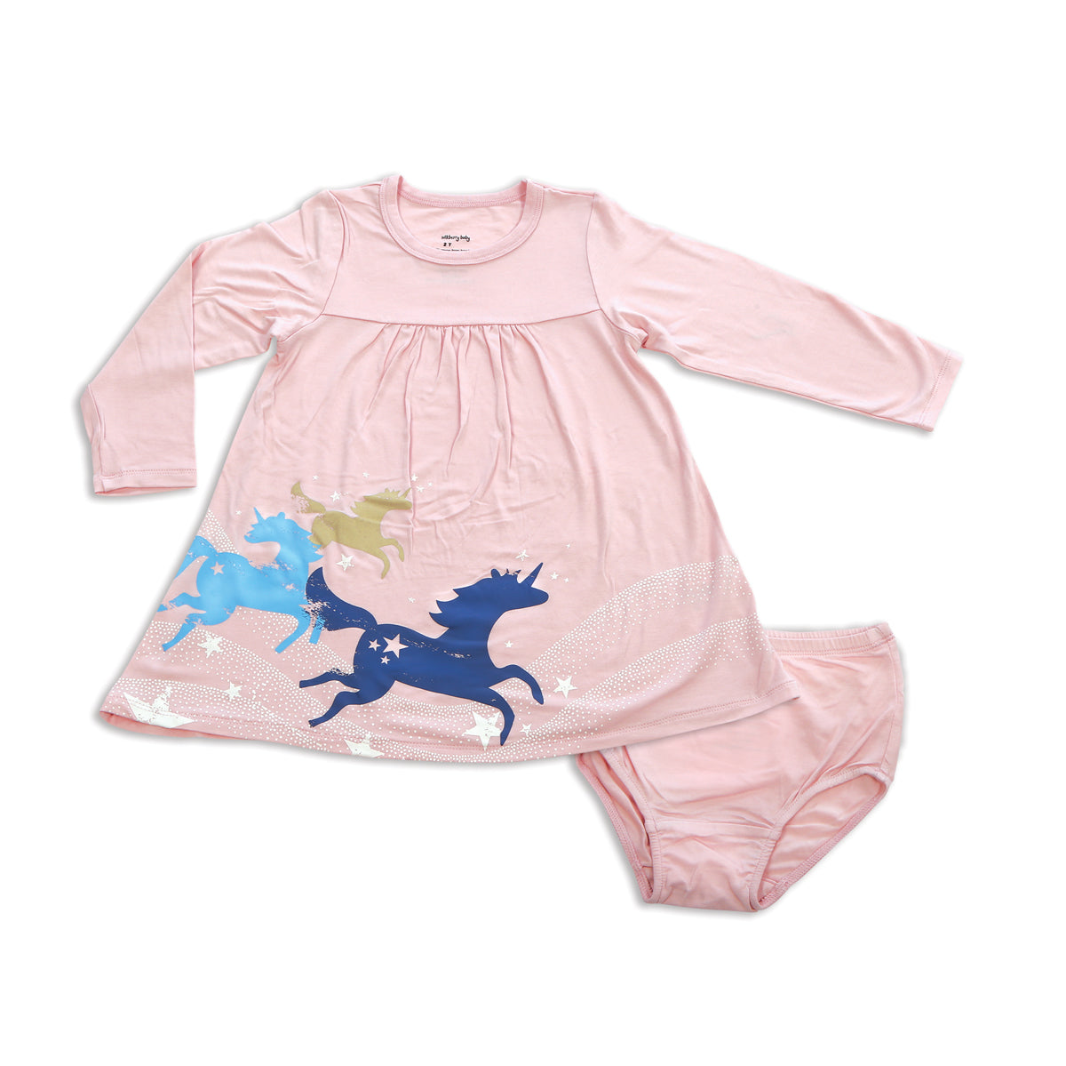 Bamboo Empire Dress (Pink Cloud) with Bloomer