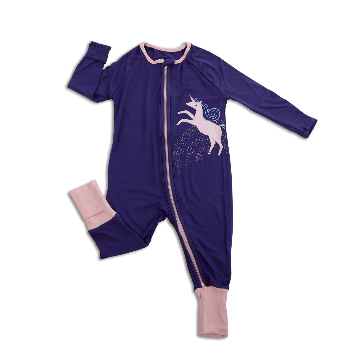 Bamboo Two-way Zipper Romper (Skipper Blue)