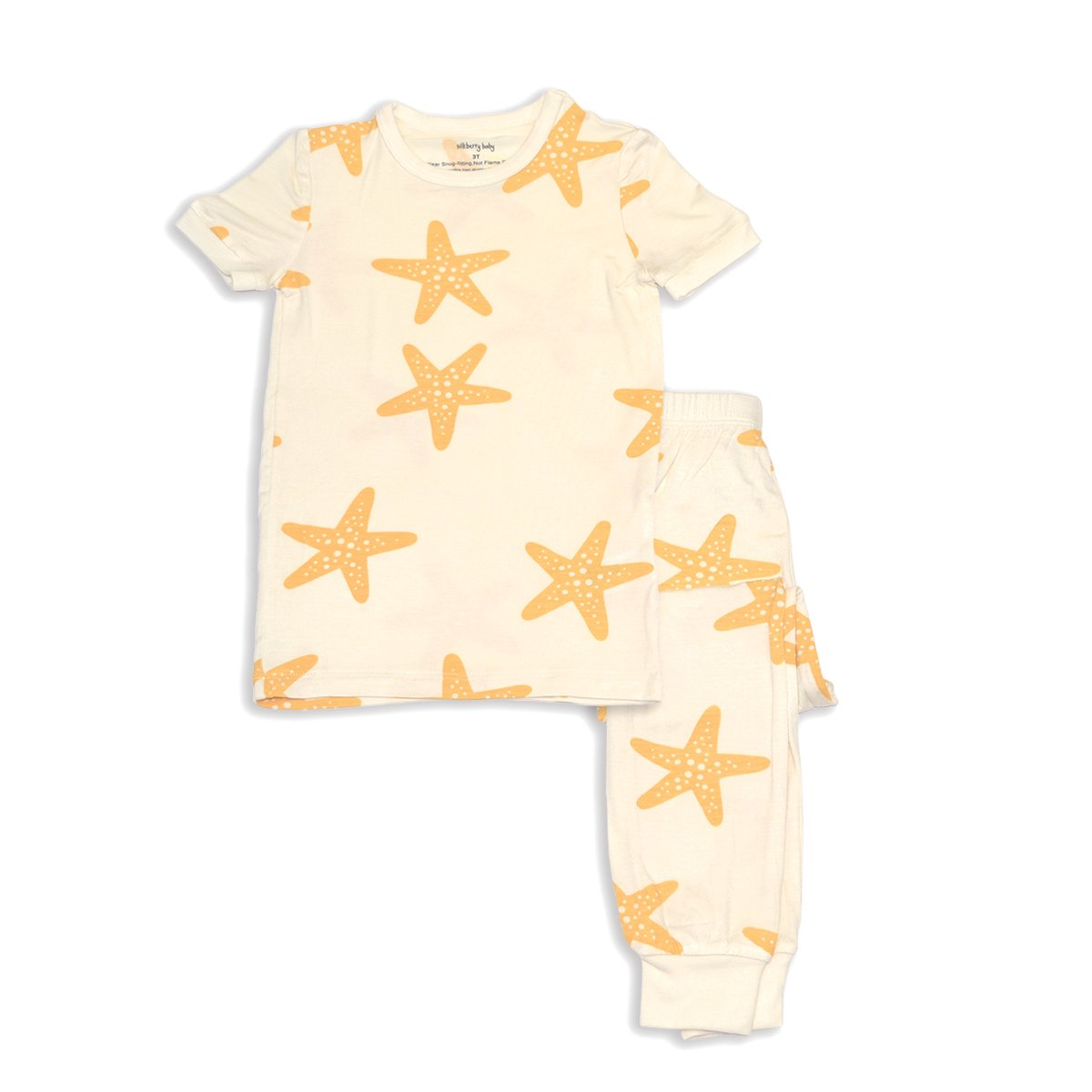 bamboo short sleeve pajama set starfish print
