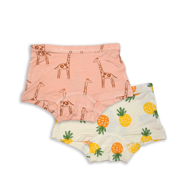 bamboo girls boyshorts underwear 2 pack