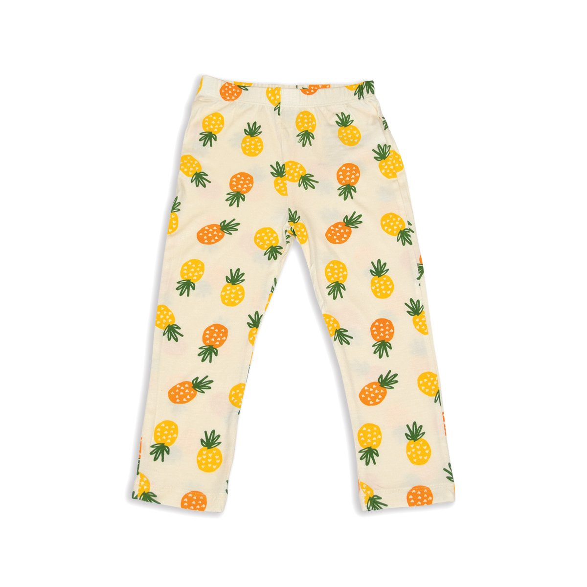 bamboo capri leggings pineapple love  print