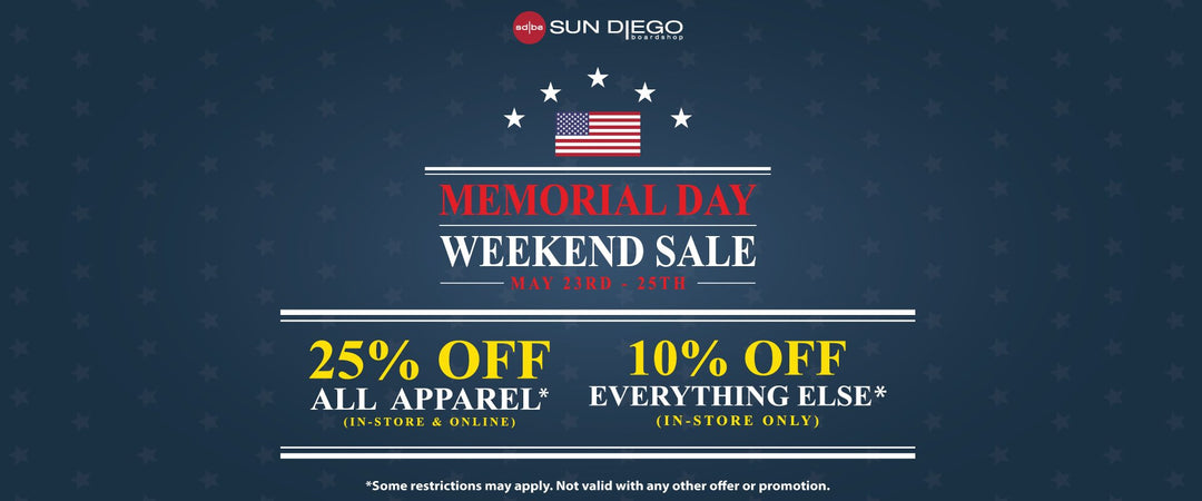 Sun Diego Memorial Day Weekend Sale