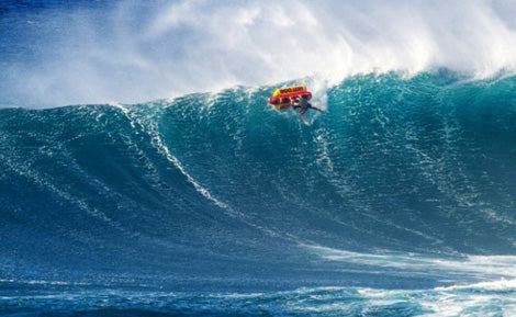 Tune In Thursdays: Ian Walsh Surfs Jaws On An Inflatable Hot Dog